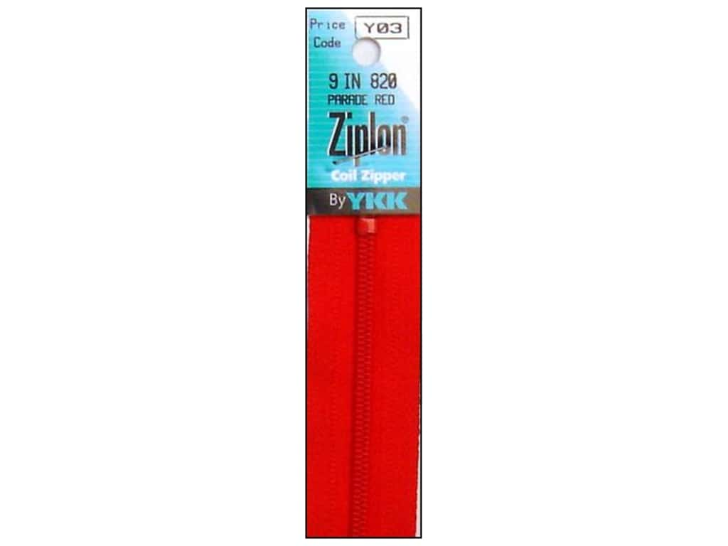 YKK Ziplon Coil Zipper 9 in. Parade Red