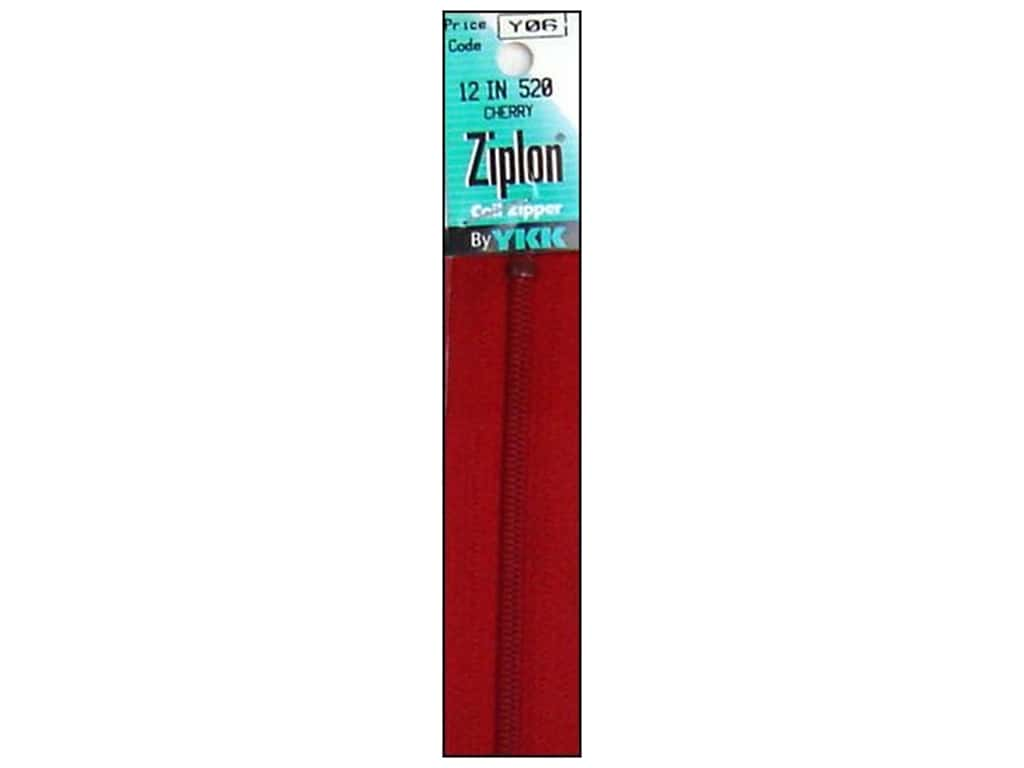 YKK Ziplon Coil Zipper 12 in. Cherry