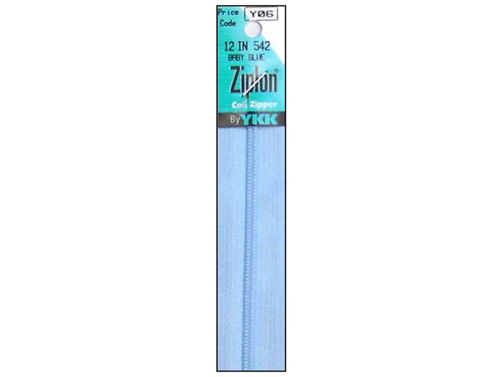 YKK Ziplon Coil Zipper 12 in. Baby Blue