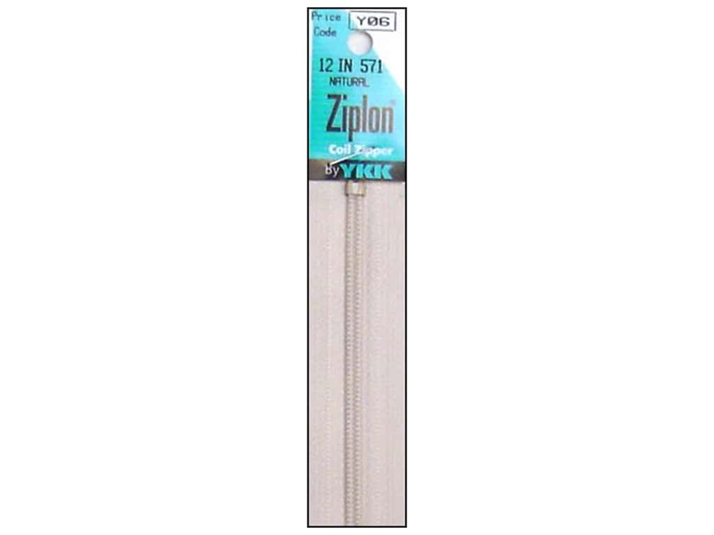 YKK Ziplon Coil Zipper 12 in. Natural