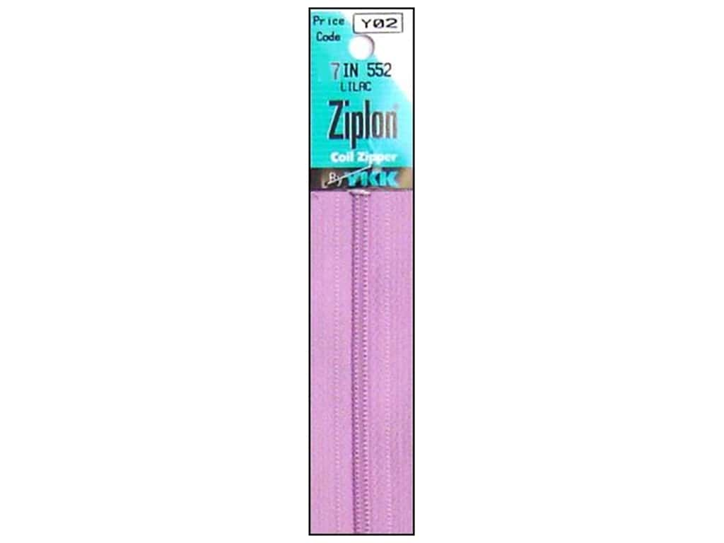 YKK Ziplon Coil Zipper 7 in. Lilac