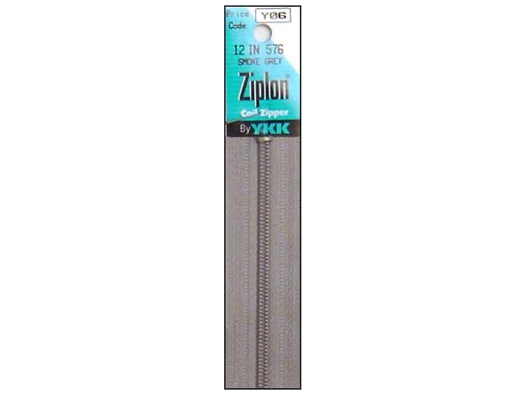 YKK Ziplon Coil Zipper 12 in. Smoke Grey