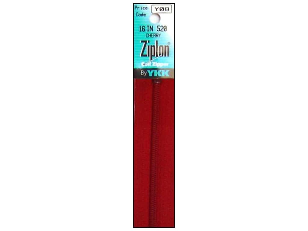 YKK Ziplon Coil Zipper 16 in. Cherry