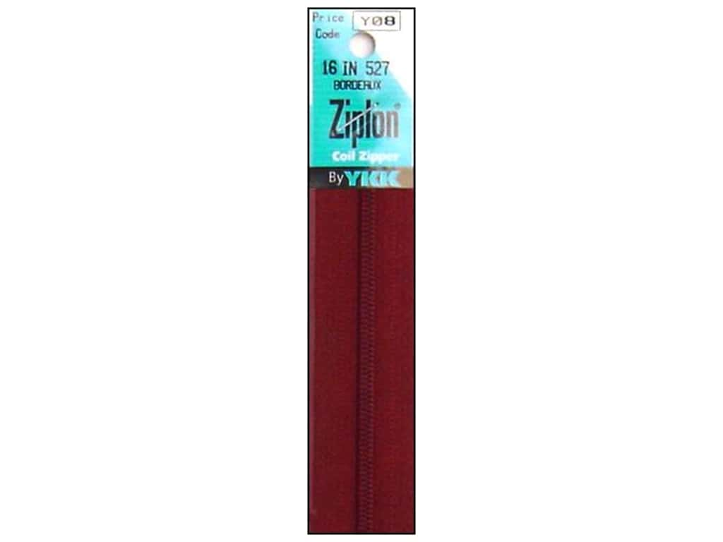 YKK Ziplon Coil Zipper 16 in. Bordeaux