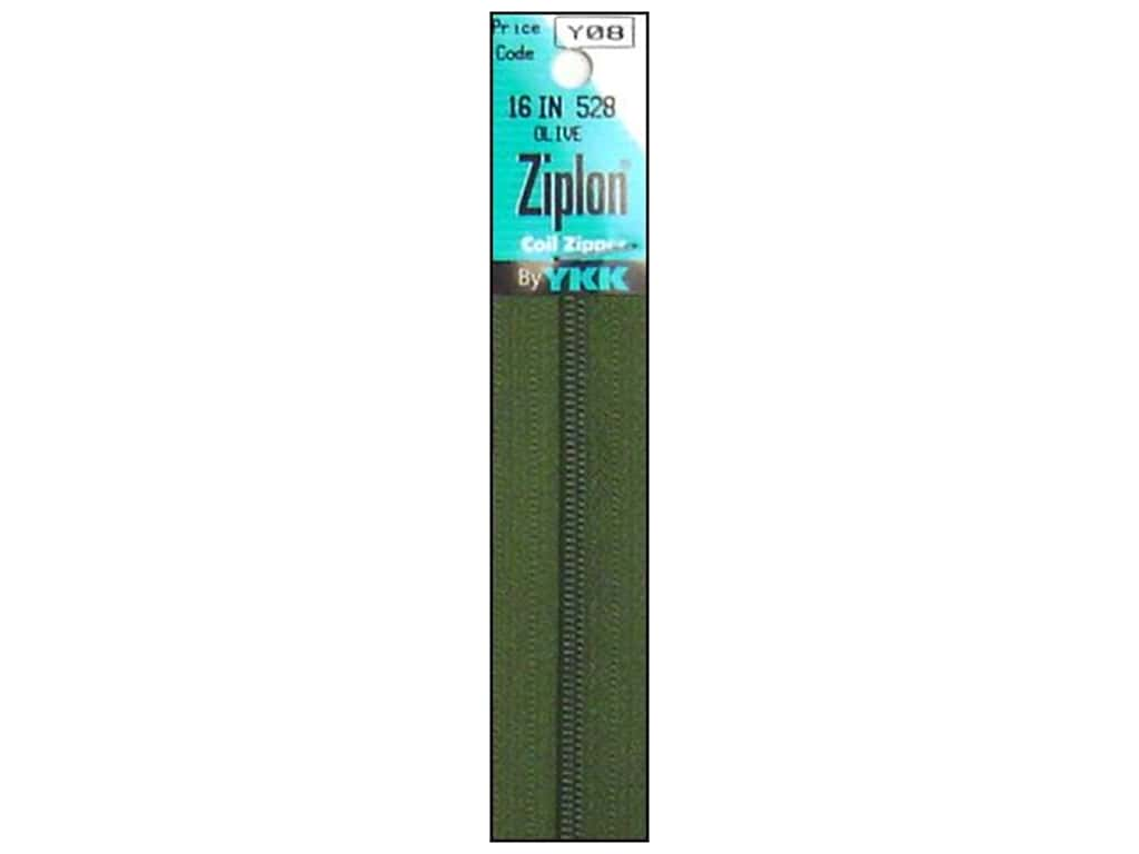 YKK Ziplon Coil Zipper 16 in. Olive