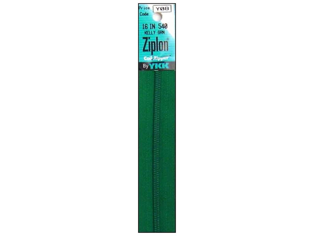 YKK Ziplon Coil Zipper 16 in. Kelly Green