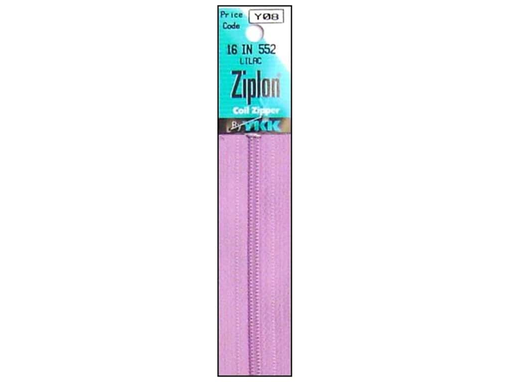 YKK Ziplon Coil Zipper 16 in. Lilac