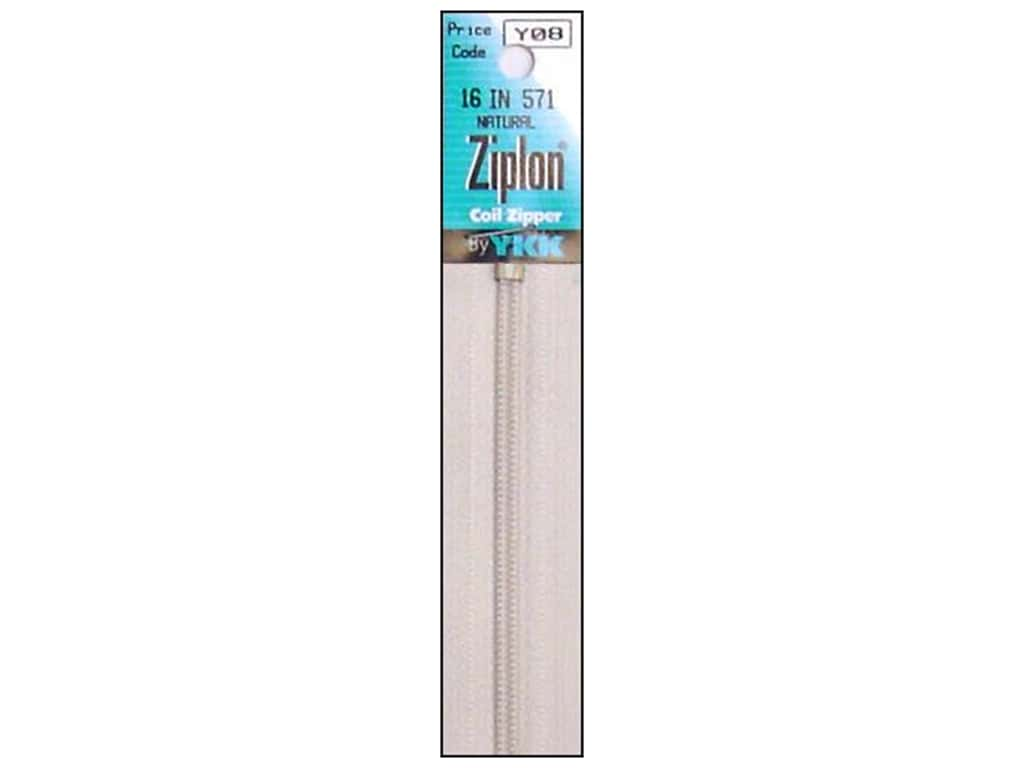YKK Ziplon Coil Zipper 16 in. Natural