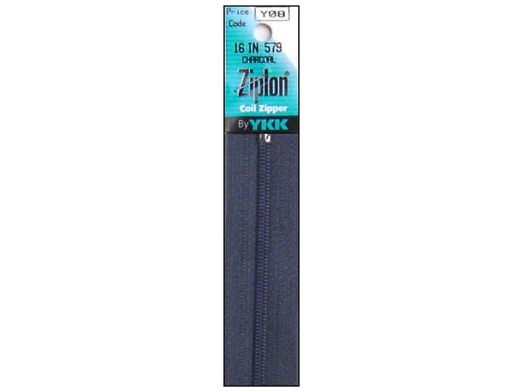 YKK Ziplon Coil Zipper 16 in. Charcoal