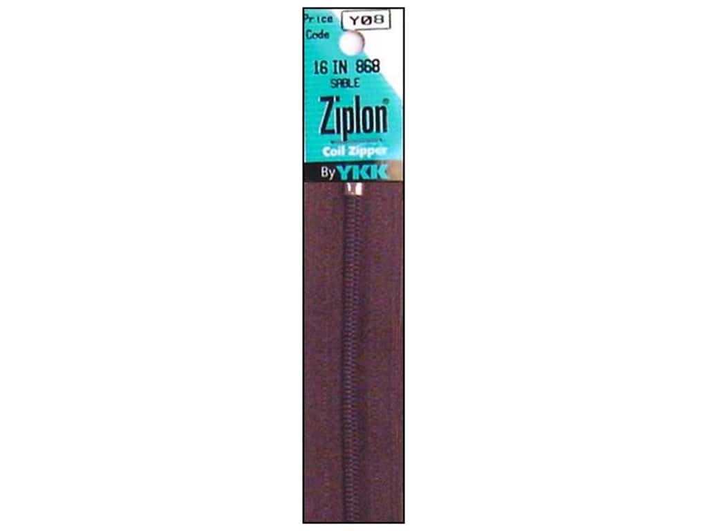 YKK Ziplon Coil Zipper 16 in. Sable