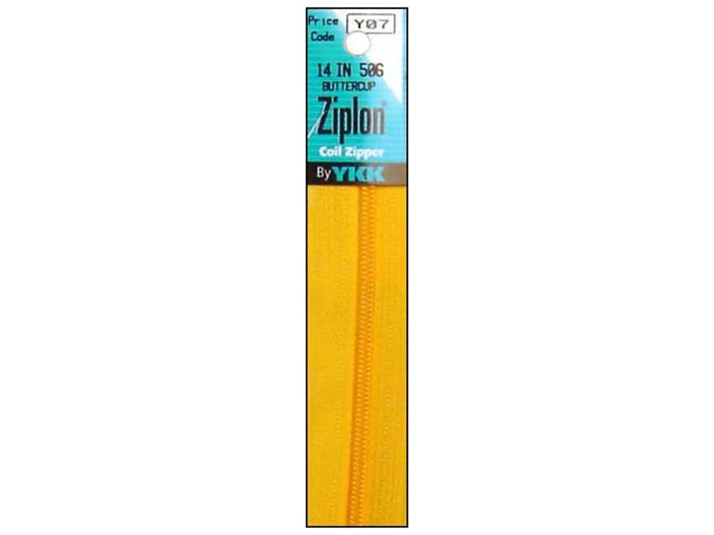 YKK Ziplon Coil Zipper 14 in. Buttercup