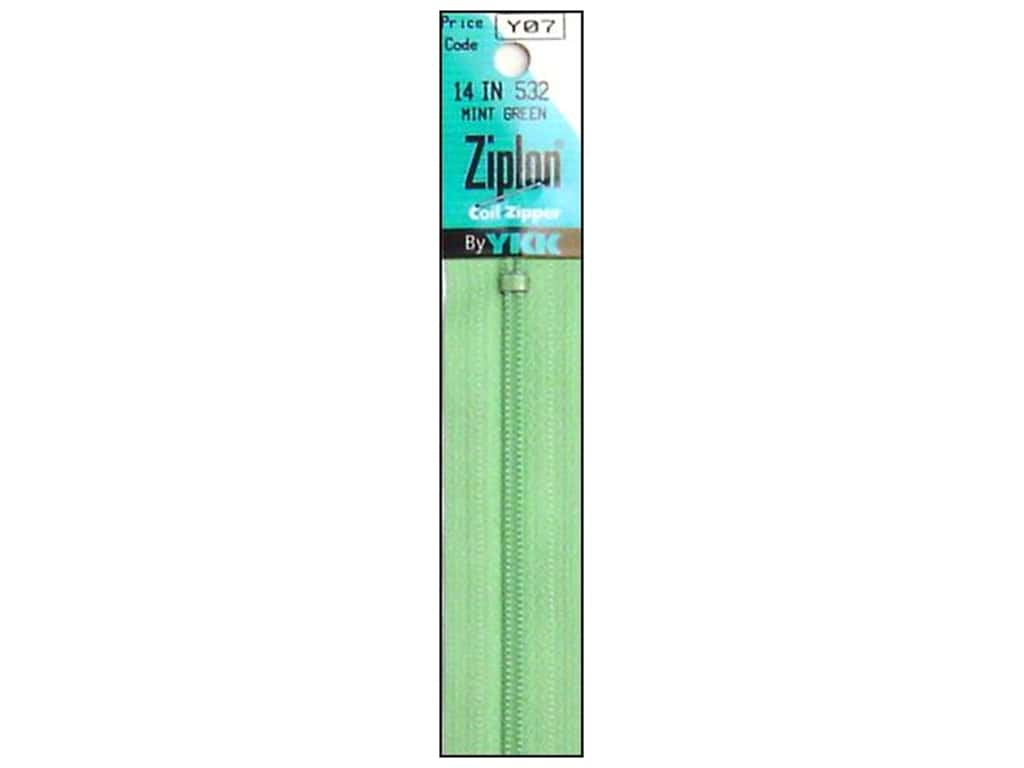 YKK Ziplon Coil Zipper 14 in. Mint Green