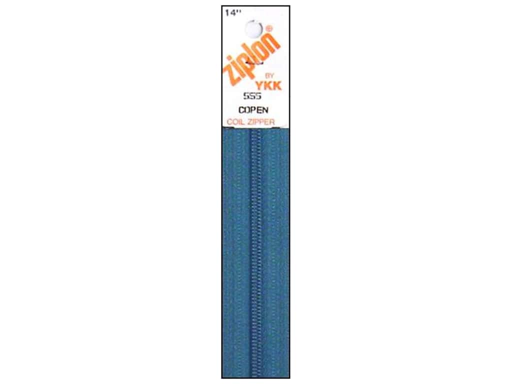 YKK Ziplon Coil Zipper 14 in. River Blue