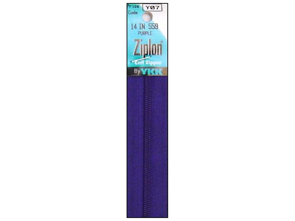 YKK Ziplon Coil Zipper 14 in. Purple