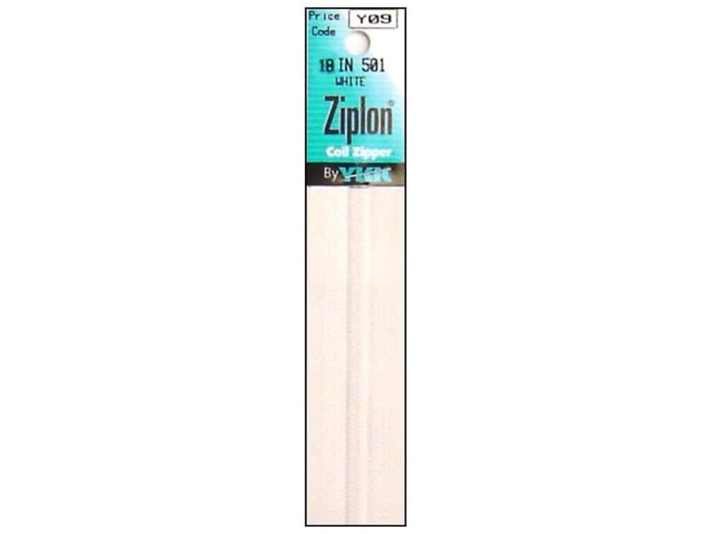 YKK Ziplon Coil Zipper 18 in. White