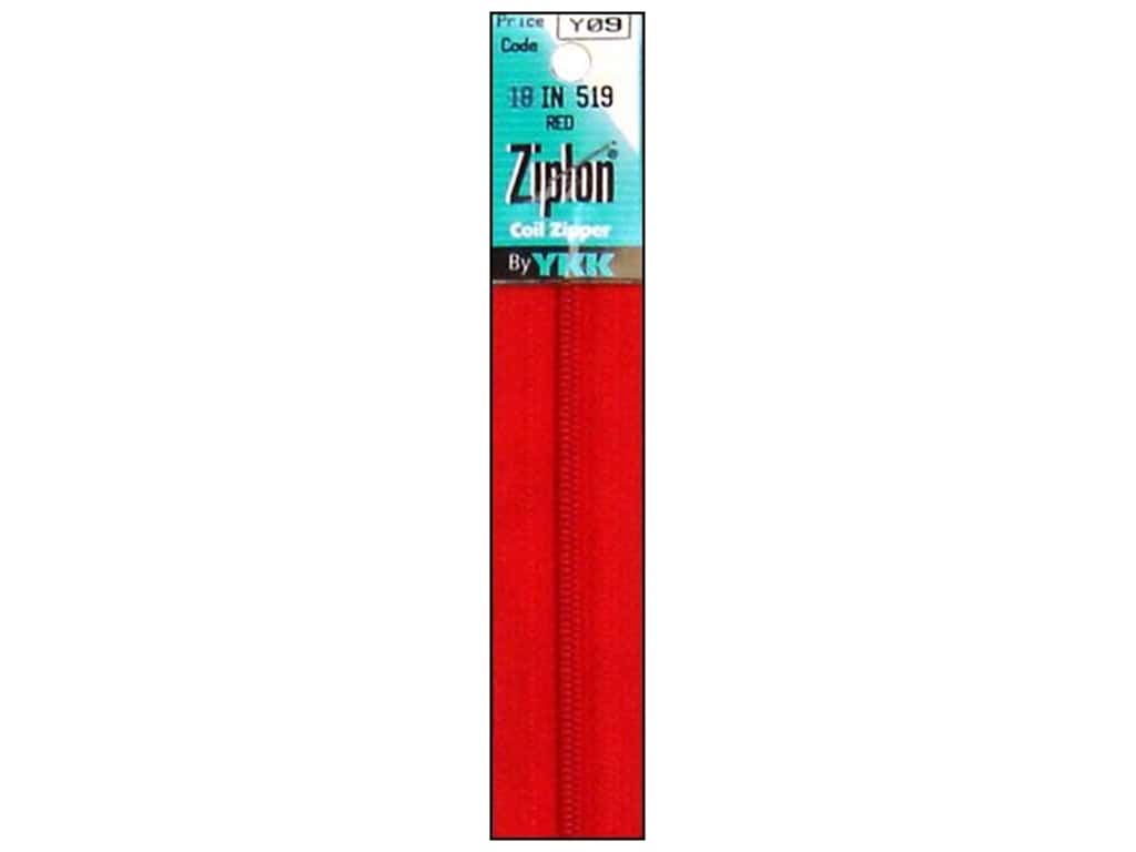 YKK Ziplon Coil Zipper 18 in. Red