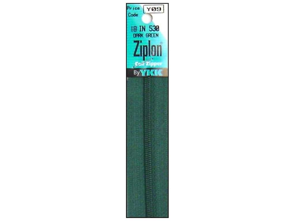 YKK Ziplon Coil Zipper 18 in. Dark Green