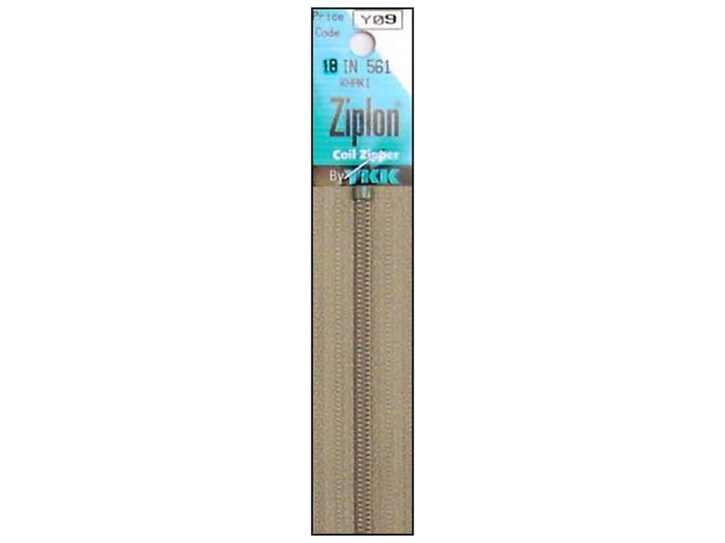 YKK Ziplon Coil Zipper 18 in. Khaki
