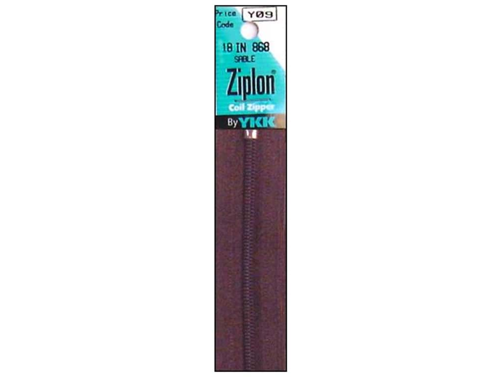 YKK Ziplon Coil Zipper 18 in. Sable