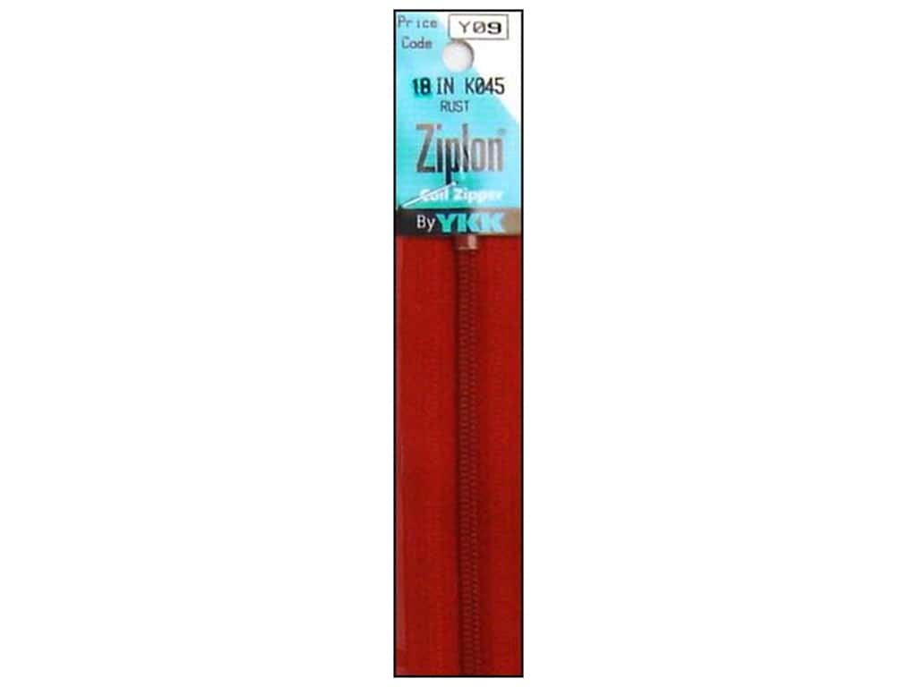 YKK Ziplon Coil Zipper 18 in. Rust