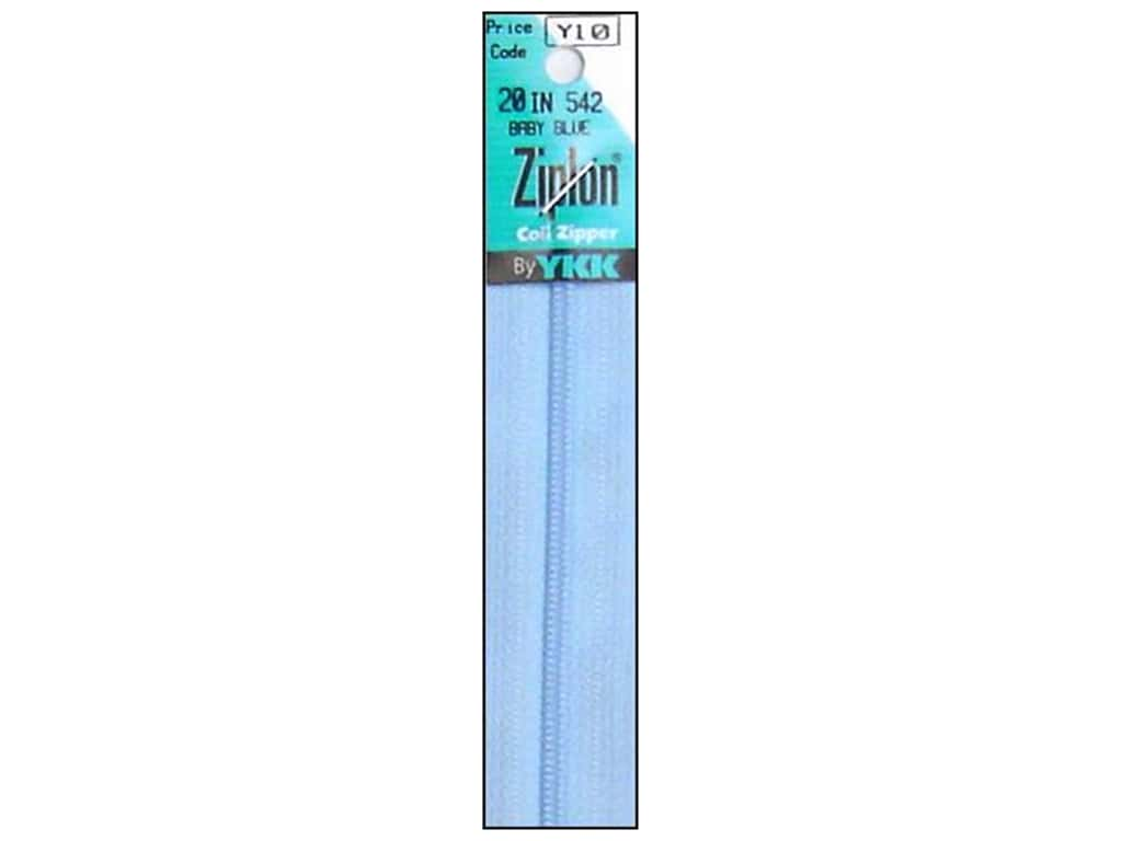 YKK Ziplon Coil Zipper 20 in. Baby Blue