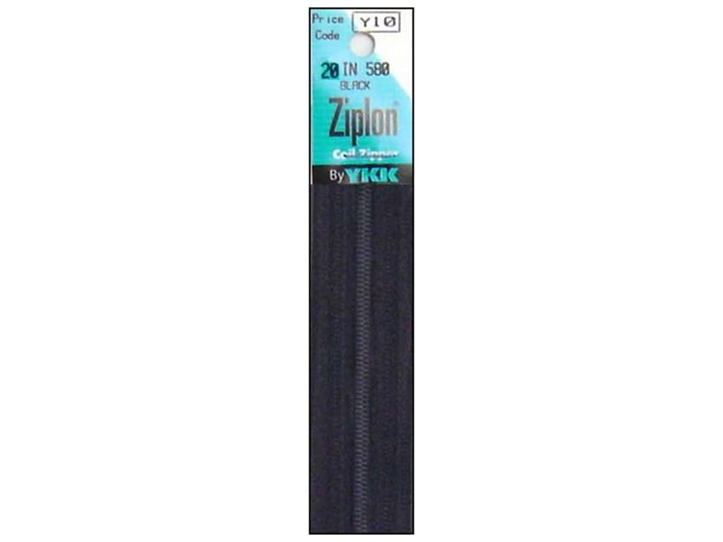 YKK Ziplon Coil Zipper 20 in. Black