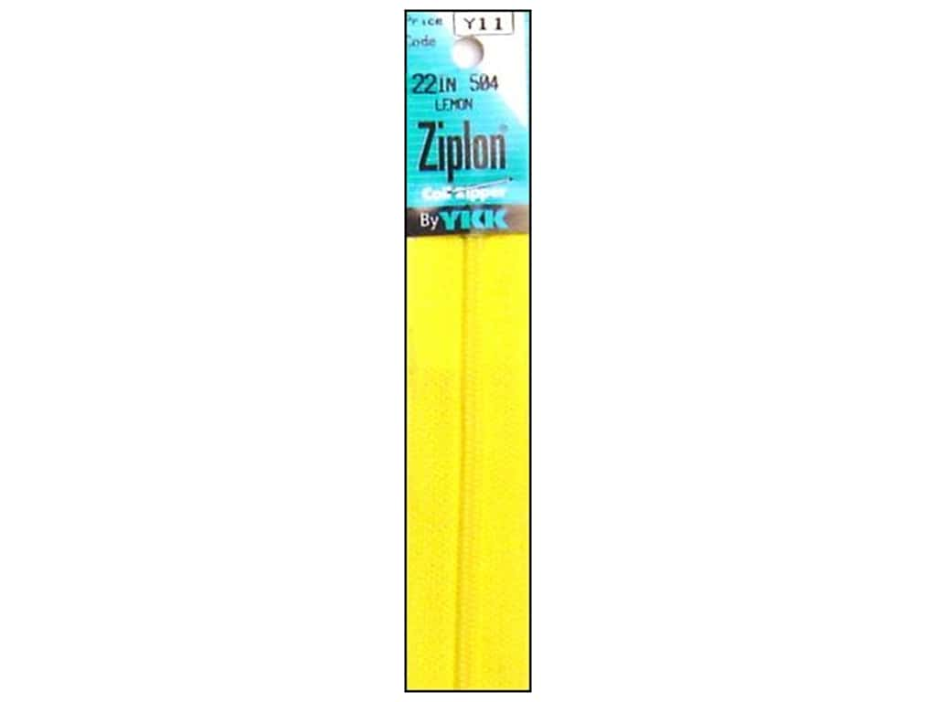 YKK Ziplon Coil Zipper 22 in. Lemon