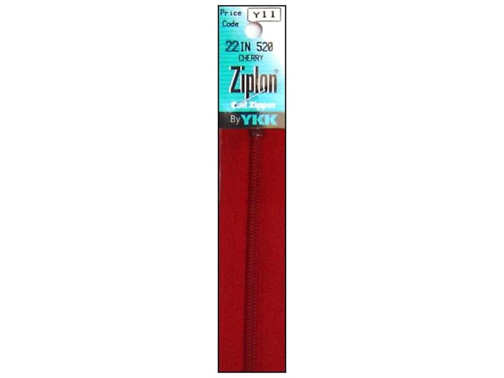 YKK Ziplon Coil Zipper 22 in. Cherry