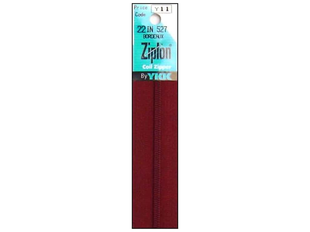 YKK Ziplon Coil Zipper 22 in. Bordeaux