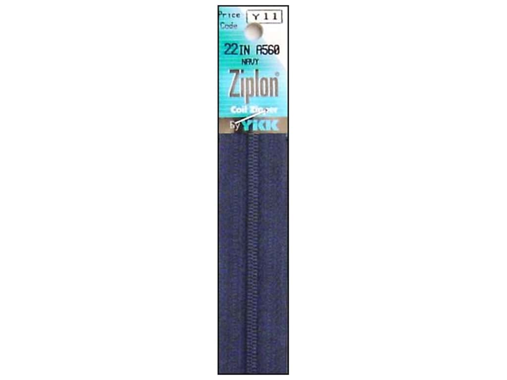 YKK Ziplon Coil Zipper 22 in. Navy