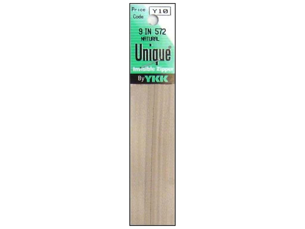 YKK Unique Invisible Zipper 9 in. Natural