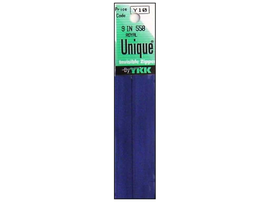 YKK Unique Invisible Zipper 9 in. Royal Blue