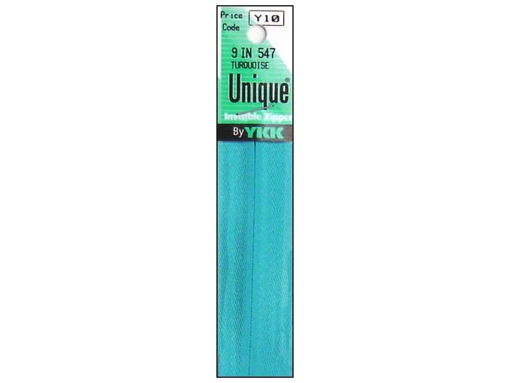 YKK Unique Invisible Zipper 9 in. Turquoise