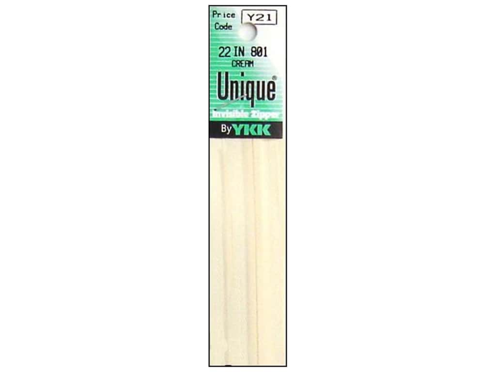 YKK Unique Invisible Zipper 22 in. Cream