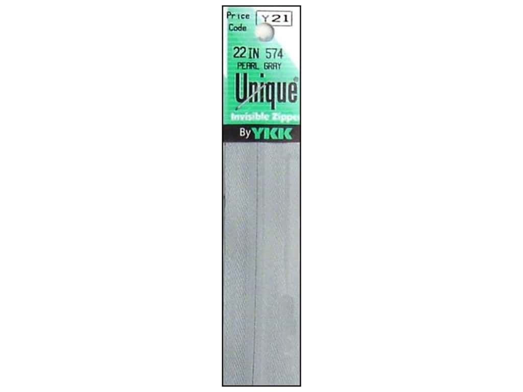YKK Unique Invisible Zipper 22 in. Pearl Grey