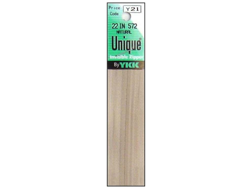 YKK Unique Invisible Zipper 22 in. Natural