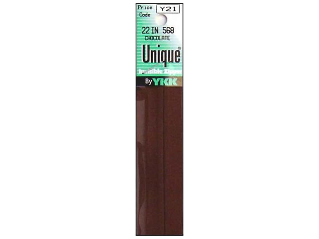 YKK Unique Invisible Zipper 22 in. Chocolate