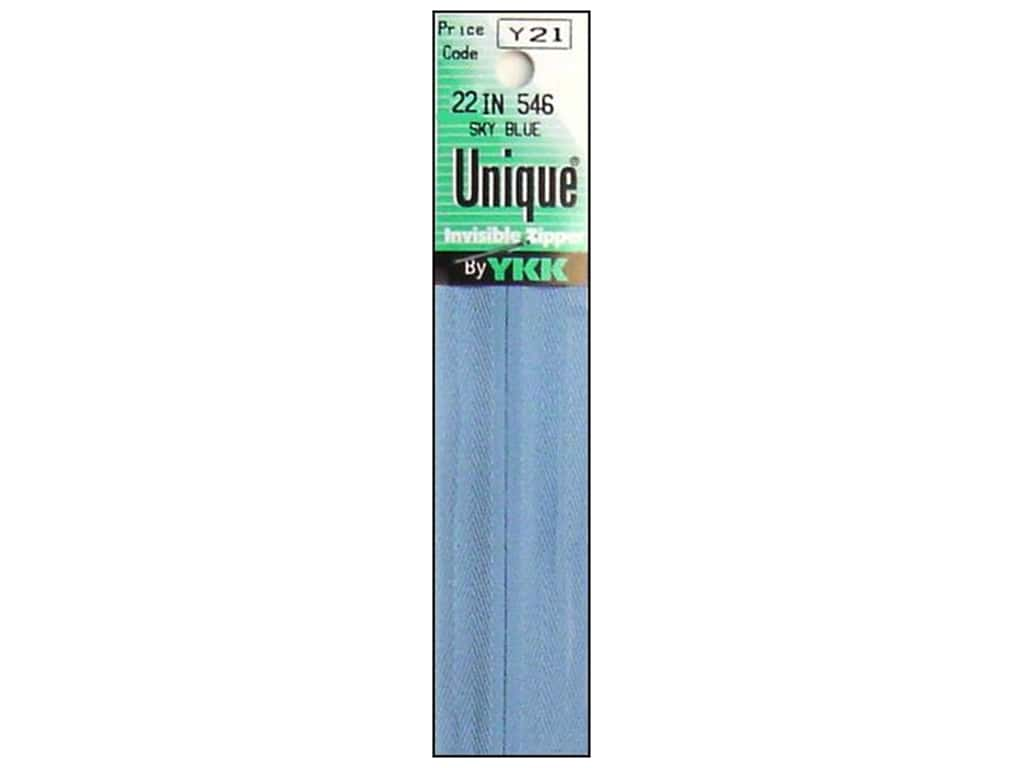 YKK Unique Invisible Zipper 22 in. Sky Blue
