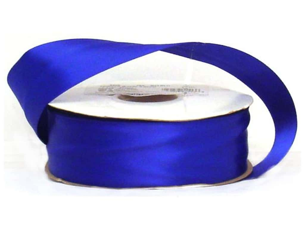 Offray Double Face Satin Ribbon 1 1/2 in. x 50 yd. Royal (50 yards)