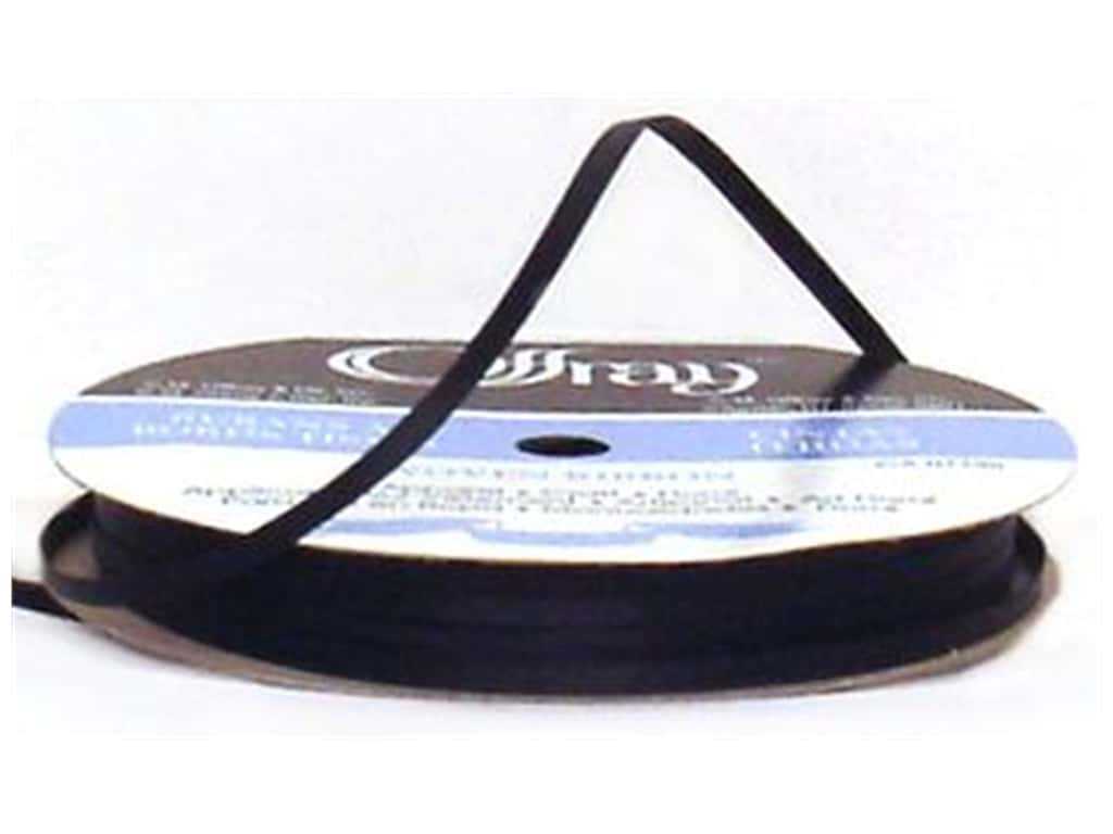 Offray Double Face Satin Ribbon 1/8 in. x 30 yd. Black (30 yards)