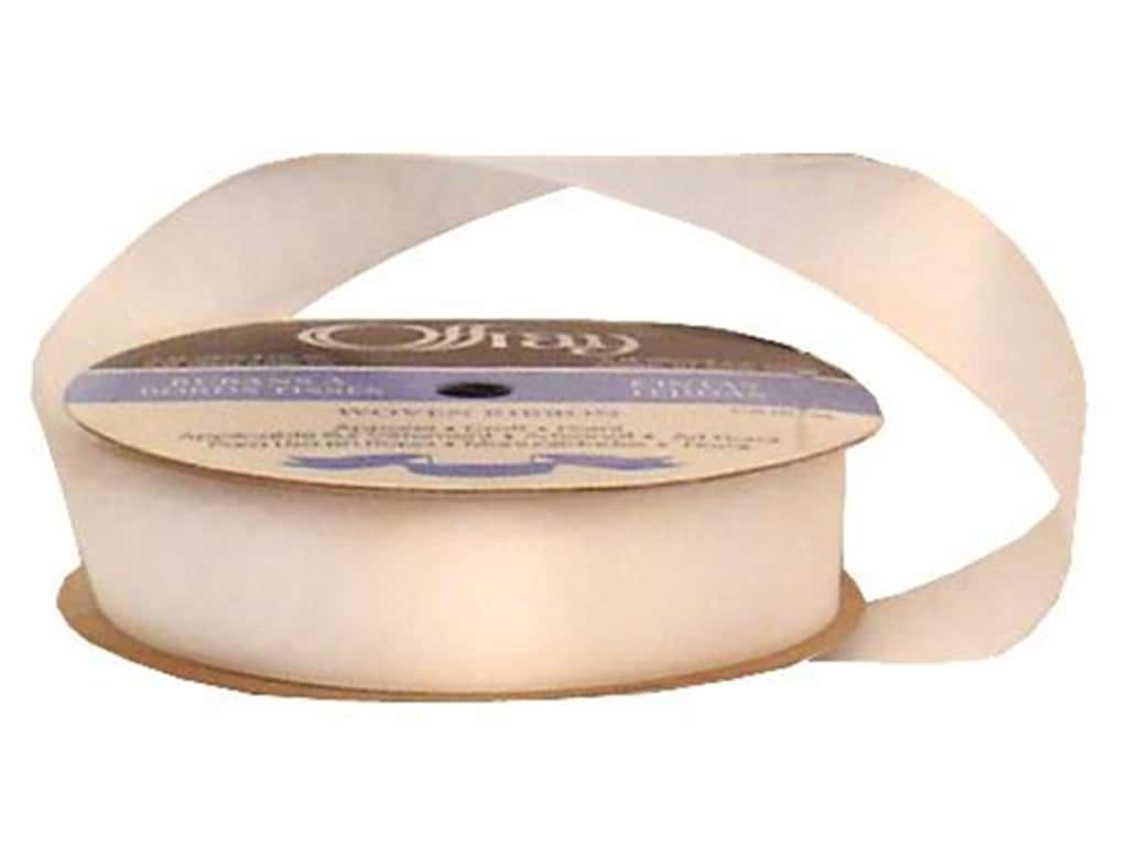 Offray Single Face Satin Ribbon 7/8 in. x 20 yd. White (20 yards)