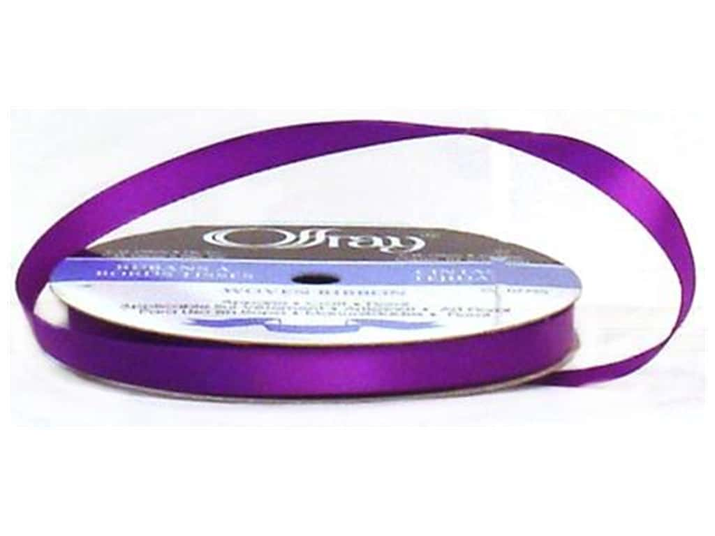 Offray Single Face Satin Ribbon 3/8 in. x 20 yd. Purple (20 yards)