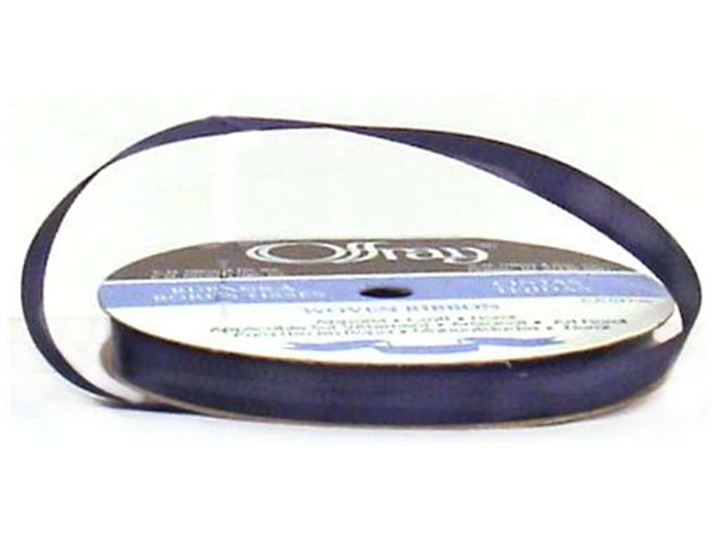 Offray Single Face Satin Ribbon 3/8 in. x 20 yd. Navy (20 yards)