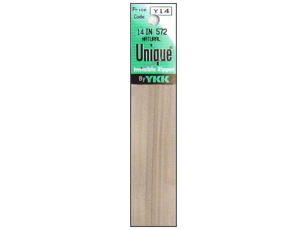YKK Unique Invisible Zipper 14 in. Natural