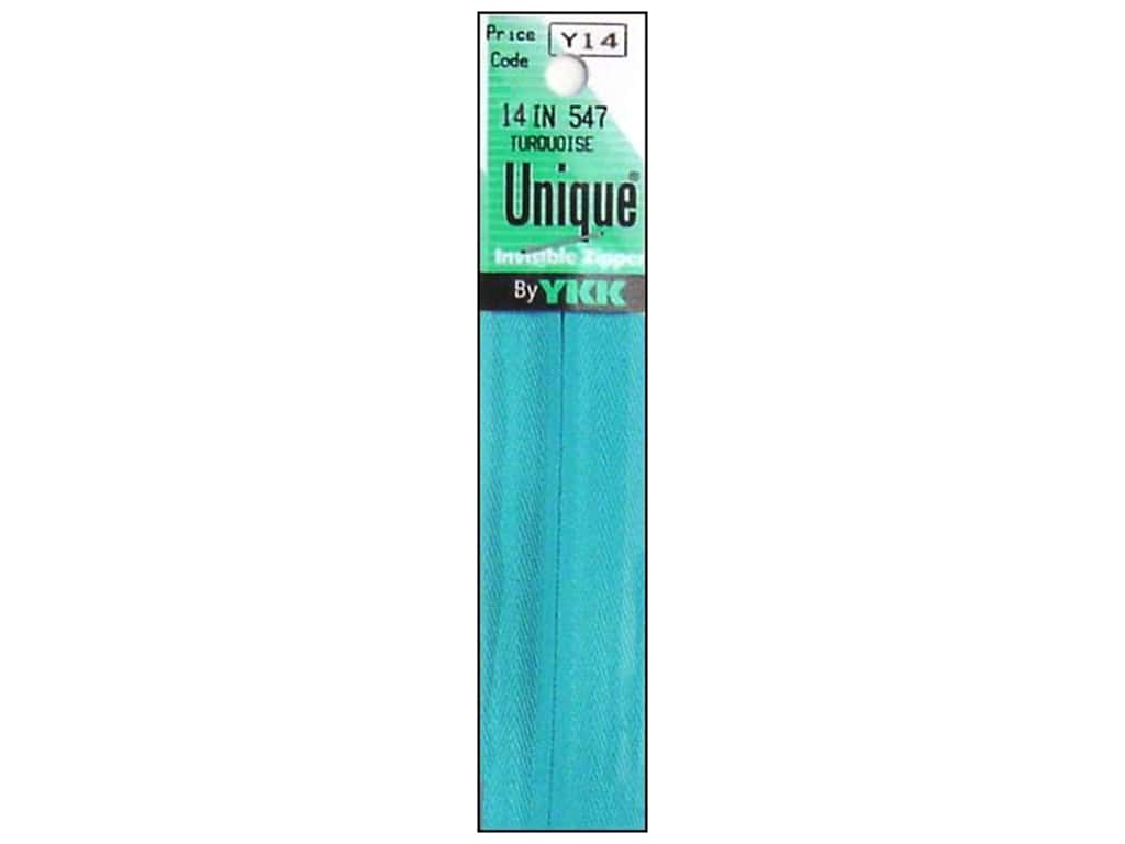 YKK Unique Invisible Zipper 14 in. Turquoise