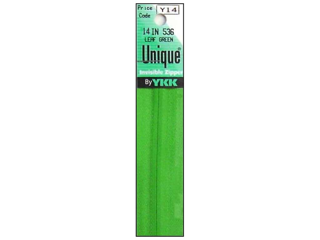YKK Unique Invisible Zipper 14 in. Leaf Green
