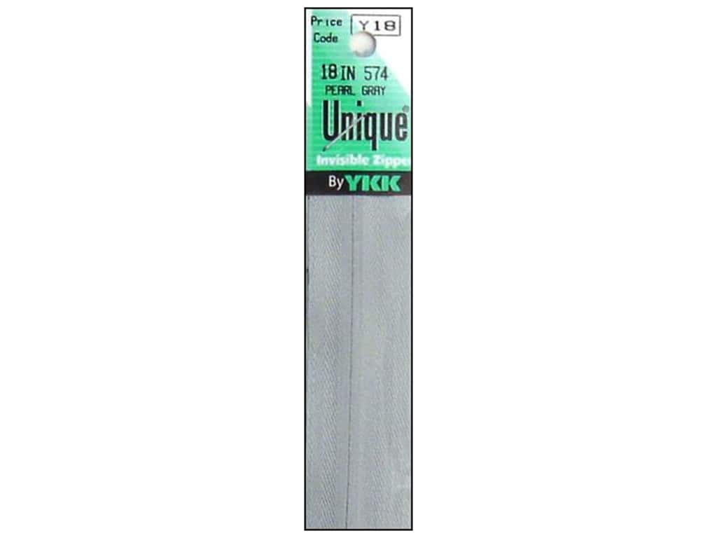 YKK Unique Invisible Zipper 18 in. Pearl Grey