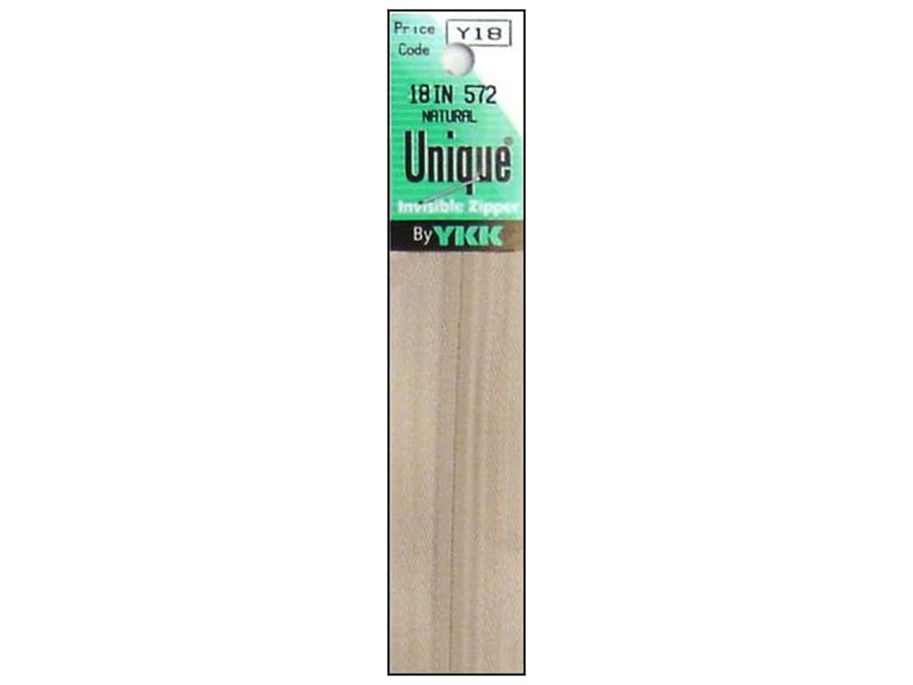 YKK Unique Invisible Zipper 18 in. Natural