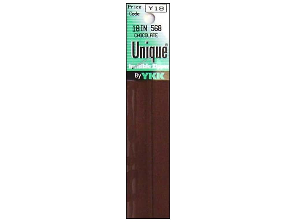 YKK Unique Invisible Zipper 18 in. Chocolate