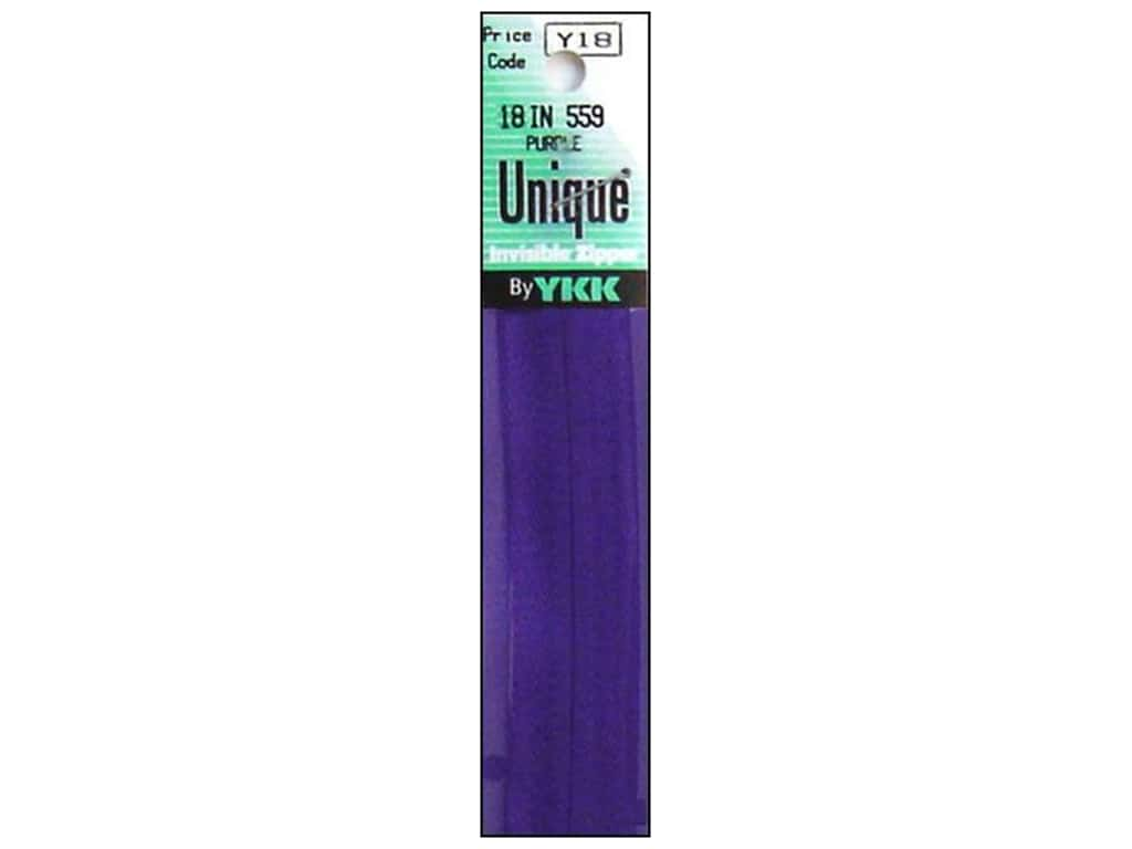YKK Unique Invisible Zipper 18 in. Purple